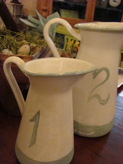 Handpainted color makes these pitchers must-haves.
