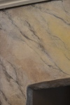 Detail of the faux marble in the dining room.